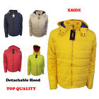 Mens XSID Hooded Plain Quilted Padded Puffer Winter Spring Jacket Coat S  M L XL