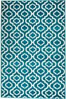 NEW AREA RUG (#26) TURQUOISE TRELLIS -APRX SIZES: 2'X3' 2'X7' 4'X5' 5'X7' 8'X11'