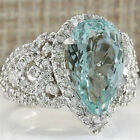 Fshion Jewelry 925 Silver Ring Sapphire Gemstone Engagement Xmas Gifts Size 6-10
