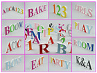 Free Standing Bright COLOUR Kids Letters Number Home Decor Gift Plastic not Wood