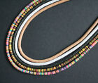 Heishi Vinyl Disc Beads Very Thin Spacers 6 mm 6 Colours Choices, Delightful!