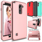 Hybrid TPU+PC Shockproof Armor Rubber Case Cover For LG G Stylo 2/Stylus 2 Plus