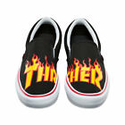 Vans X Thrasher Slip-on Pro Shoes In Thrasher Black Flame - Men's 7 - 13 Nwt
