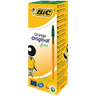 New Bic Orange GREEN Fine Biro Pen 0.8mm *CHOOSE FROM MENU, UK SELLER FREE P&P*
