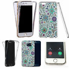 Shockproof 360° Silicone Clear Case Cover For many mobiles - bellflower.