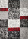 NEW (#310) Rio Area Rug- Gray BOXED DESIGN APRX SIZES: 2X3, 2X7, 4X5, 5X7 & 8X11