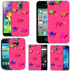 hard case cover for many mobiles - blush multi turtle droplet