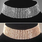 Gold/Silver classic 11 Row Choker/Necklace,bride,bridesmaid,prom,party SV16-SM11