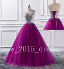 Sparkly Prom Dress Sweetheart Tulle Formal Evening Party Pageant Dress Size 2-16