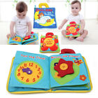 Baby Kids Intelligence development Cloth Bed Cognize Book Flower Educational Toy