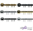 NEW! Speedy Products 28mm Metal Nikola Complete Curtain Pole Sets