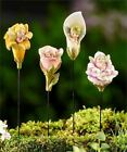 Fairy Garden Dollhouse Miniature Baby Flower Bud Fairy Figurine Stake