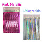6x10 METALLIC BUBBLE MAILER, POLY BUBBLE Design Padded Shipping Bags, Pink,Teal