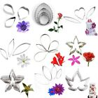Flower Petal Stainless Steel Cookie Cutters Fondant Cake Mold Decorating Tools