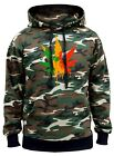 Men's Dripping Rasta Weed Leaf Camo Hoodie Sweater Marijuana Weed High Jamaican