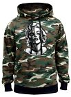 Men's Marilyn Monroe Half Skull Camo Hoodie Sweater Hollywood Day Of The Dead