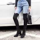 Sexy Ladies Soft Over The Knee Thigh High Boots Suede High Heels Womens Shoes