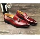 Retro Men Shiny Leather Tassels Slip On Loafers Shoes Dress Formal Oxfords New