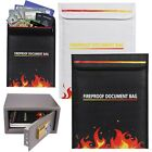 Fireproof Pouch Storage Safe Bag Sleeve Valuable Documents/Passbook/Cash/Jewelry