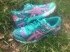 ASICS GEL NOOSA TRI 11 GS RUNNING SHOES TRAINERS TURQUOISE/HOT PINK AUTHENTIC
