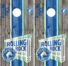 Rolling Rock Barnwood Cornhole Wrap Boards Decals Bag Toss Game Stickers