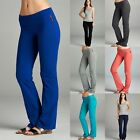 Внешний вид - Active Womens Yoga Athletic Gym Casual Comfy Stretchy Foldover Pants Small 3XL