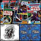 Stars Wars Storm Troopers Spaceship Jedi Quilting Cotton Fabric ONE YARD PIECE