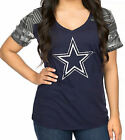 Womens Dallas Cowboys Blue Ruthdale V-Neck T Shirt on eBay