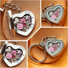 Personalised BIRTHDAY Gift  Floating Heart  Memory Locket keyring -30th40th 50th