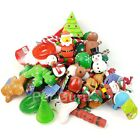 BULK PACK CHRISTMAS ASSORTED PET DOG SQUEAKY BALL ROPE RUBBER FETCH TOYS