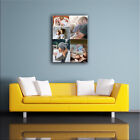 PERSONALISED PHOTO COLLAGE CANVAS. PORTRAIT SIZES. HIGH QUALITY PRINT, FRAME