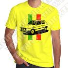 Fiat 127 Sport Mens 100% cotton T-shirt Personalised plate opt. 7 colours of Tee