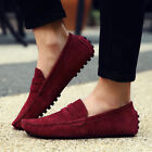 New Suede Leather Moccasins Slip On Men Driving Loafers Penny Shoes Boat Shoes