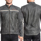 Affliction Moon Riders White Stripe Mens Genuine Leather ...