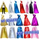 Halloween Party Stage Costume Metallic Cloak Cape Hooded Cosplay Ball Dress