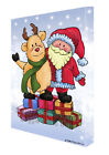Merry Christmas Happy Holiday Canvas Wall Art