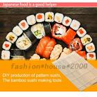 2pcs Sushi Maker Making Kit Rolling Mats Rice Roll Mold Roller Natural Bamboo