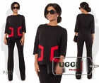 Business style Woman Pants Suit Suiting fabric 3/4 Sleeve Wear to work Casual