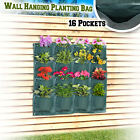 Wall Pocket Planter 16 Pockets Vertical Hanging Planting Grow Bag Indoor Outdoor