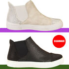 Ladies Womens Chelsea Diamante Hi Top Trainers Plimsolls Ankle Boots Shoe Size