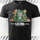 CASTROL PIN-UP Motor Oil T-Shirt Pinup Mens Short Sleeve Black