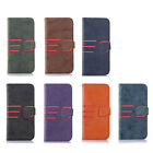 For Apple iPhone 7 8 Flip Wallet PU Leather Suede Case Cover Magnetic Luxury