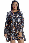 New Womens Plus Size Top Ladies Swing Dress Halloween Skeleton Dance Pumpkin