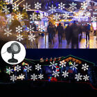Outdoor LED Moving Snowflake Laser Projector Landscape Light Party Xmas Garden
