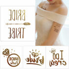 Flash Metallic Gold Temporary Tattoo Sticker Wedding Party Design Body Art Decal $0.99 USD