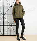Women's Light Soft With Hat Medium Fashion Down Jacket Colorful White 3colors