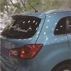 Universal Just Married Wedding Car Cling Decal Sticker Window Banner Decoration