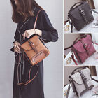 Convertible Faux Leather Small Mini Backpack Rucksack Shoulder Bag Studded Purse