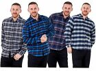Mens Flannel Shirts Check Brushed Cotton Branded Long Sleeve Casual Top M to XXL