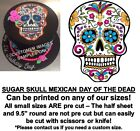 Mexican Sugar Skull Edible Cake Topper Image Cupcakes Day of the Dead Skull Cake